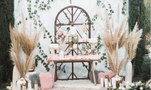 Trang trí tiệc cưới với cỏ bông bạc - 'hot trend' mùa cưới 2019
