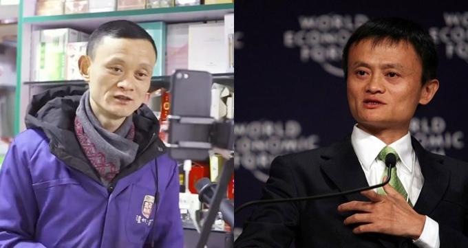 Ông chủ tiệm tạp hóa đắt hàng nhờ giống Jack Ma