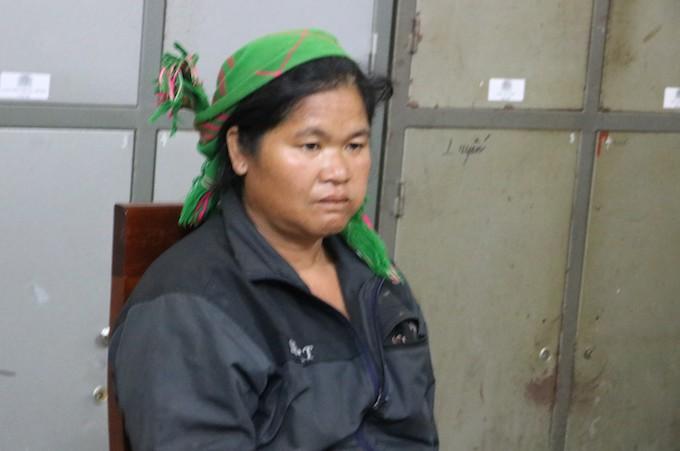 Bị can Cụt Thị Hạnh tại cơ quan điều tra.