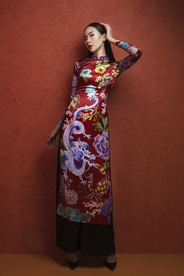 NTK Hà Linh Thư đã mất gần 2 tháng để lên ý tưởng và thực hiện bộ sưu tập áo dài Tết.