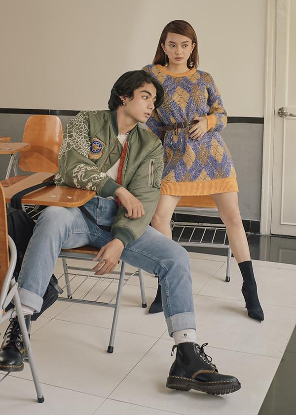 Gi A và Kaity trong một shoot hình sành điệu của bộ ảnh.