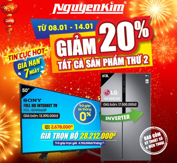 Nguyễn Kim khuyến mại nhiều sản phẩm dịp cuối năm.