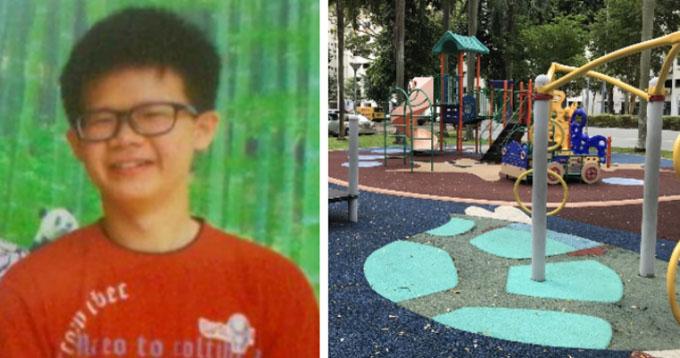 Zhang được tìm thấy tại một sân chơi cách nhà người bạn 6 km. Ảnh: World of Buzz.