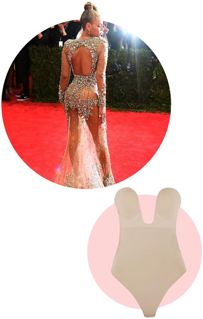 BeyonceTạp chí Elle dự đoán rằng giám đốc sáng tạo Riccardo Tisci hẳn đã làm sẵn lớp lót bên trong bộ đầm Givenchy đính đá lấp lánh cho giọng ca Halo. Còn nếu độc giả muốn mặc đồ sexy tương tự, mẫu bodysuit khoét ngực chữ U là gợi ý hiệu quả.