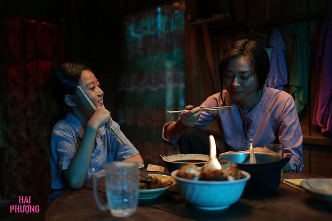 Diễn viên nhí Mai Cát Vi vào vai con gái của Ngô Thanh Vân trong phim.
