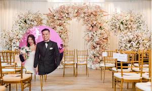 Tiệc cưới hoa anh đào của uyên ương Malaysia