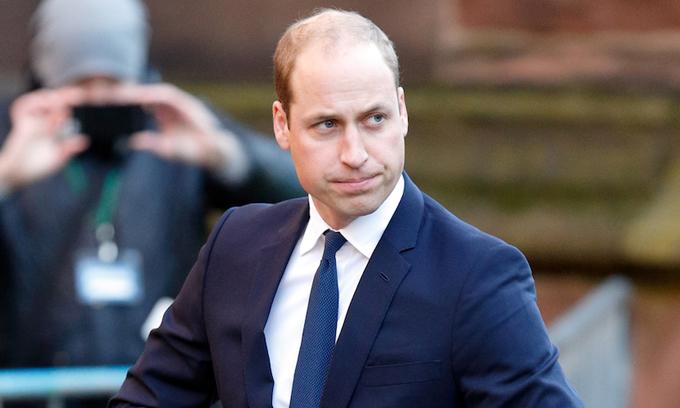 Hoàng tử William (36 tuổi), người đứng thứ hai trong danh sách kế vị ngai vàng của hoàng gia Anh. Ảnh: UK Press.
