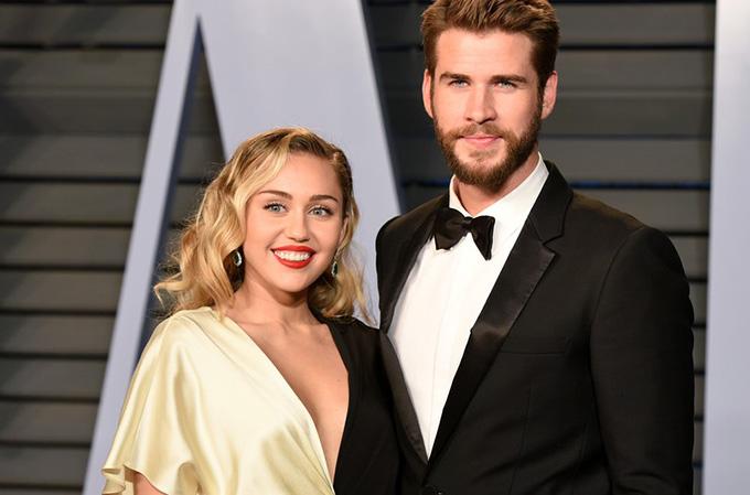 Miley Cyrus và ông xã Liam Hemsworth.