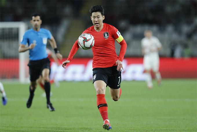 Son Heung-min trong trận đấu với Trung Quốc. Ảnh: