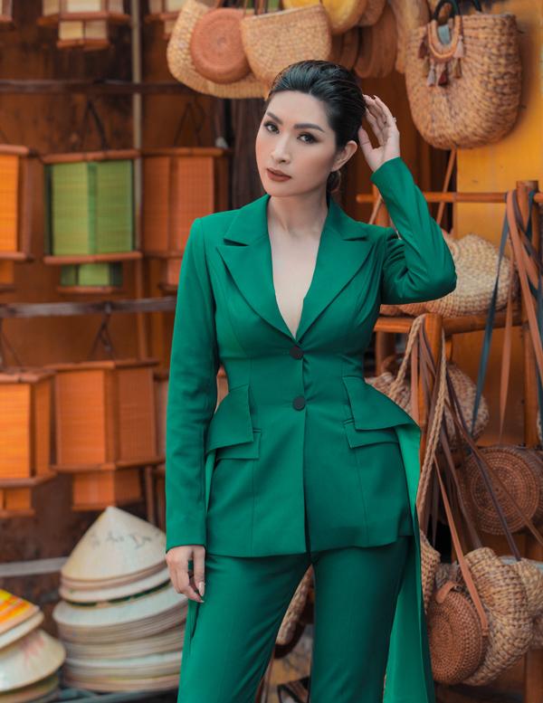 Nguyễn Hồng Nhung diện suit cách điệu - 2