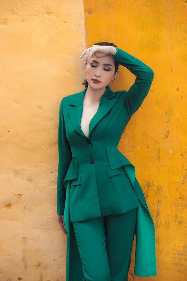 Nguyễn Hồng Nhung diện suit cách điệu - 4