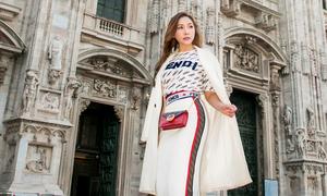 Quỳnh Thư diện 'cây' hàng hiệu hơn 100 triệu dạo chơi Italy