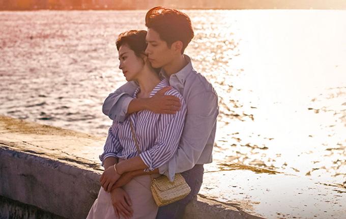 Song Hye Kyo và Park Bo Gum trong một cảnh quay của Encounter tại Cuba.