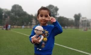 Cậu bé ung thư được tặng búp bê Park Hang-seo