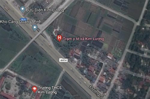 Tai nạn xảy ra trên quốc lộ 5 nối Hà Nội - Hải Phòng, vị trí gần Trạm Y tế xã Kim Lương (Kim Thành, Hải Dương).
