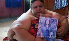 6 năm ngủ sấp của người mẹ béo nhất Indonesia