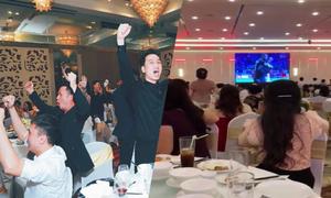 Đám cưới biến thành 'sân vận động' ngày Việt Nam thi đấu