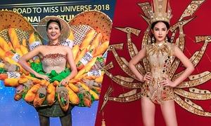 Trang phục dân tộc gây tranh cãi của Hoa hậu Việt khi thi quốc tế