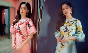 Á hậu Phương Nga gợi ý áo dài họa tiết hoa xuân