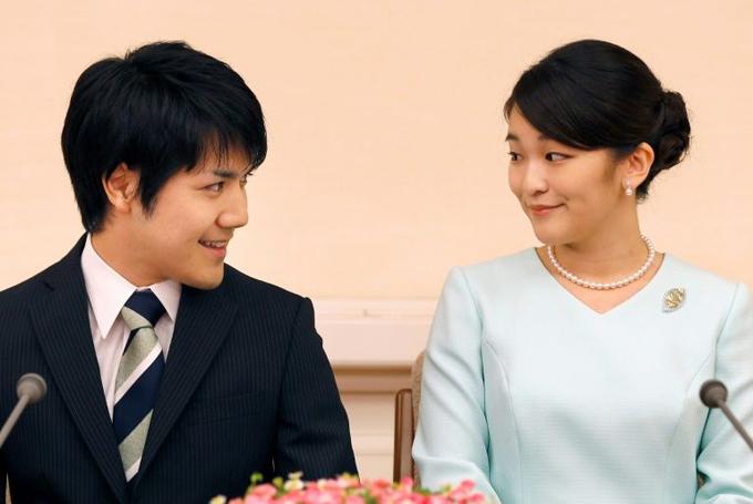 Công chúa Mako và bạn trai Kei Komuro. Ảnh: AFP.