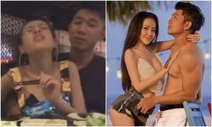 Lương Bằng Quang bị chỉ trích vì cử chỉ thô tục với bạn gái khi livestream