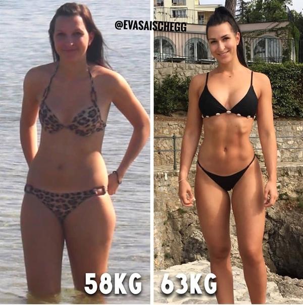 Cô gái này đã tăng 5 kg và tự nhận xét chưa bao giờ hài lòng với bản thân như lúc này.