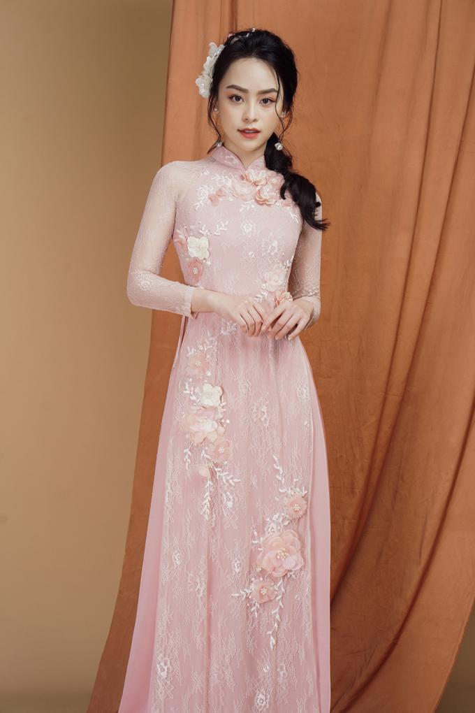 Áo dài mang dư vị tình yêu cho nàng dâu mùa xuân