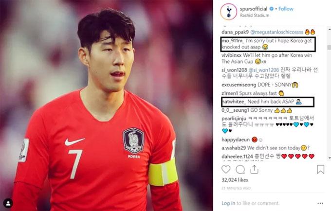 Fan Spurs mong muốn Son Heung-min sớm quay lại nước Anh