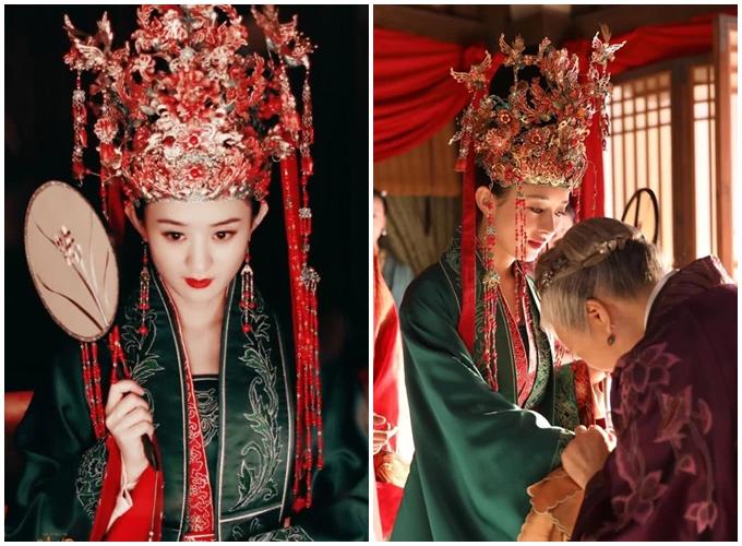 Tập 40, Minh Lan (Triệu Lệ Dĩnh) thành thân với Cố Đình Diệp (Phùng Thiệu Phong). Cô xuất hiện trong hình ảnh tân nương xinh đẹp, nhu mỳ với trang phục và phục sức lộng lẫy.