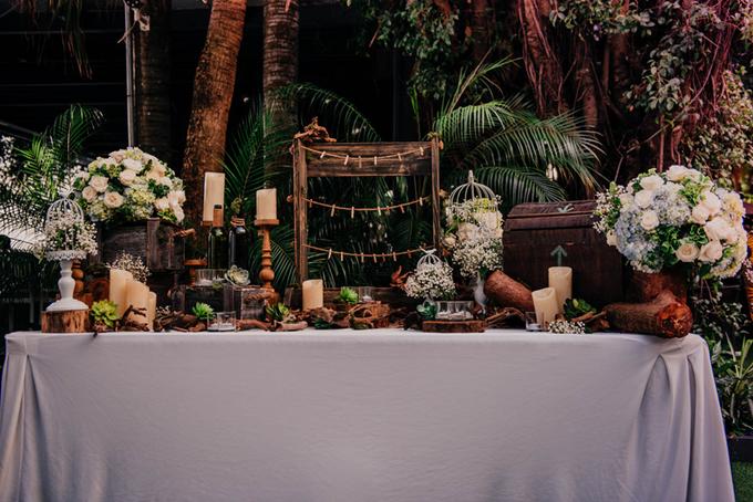 Tiệc cưới rustic màu xanh nhạt của Kim Chi The Face