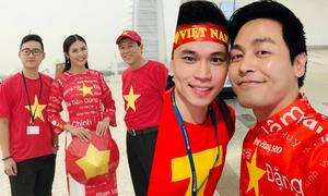 Ngọc Hân, MC Phan Anh sẽ mặc áo dài cổ vũ tuyển VN ở Dubai