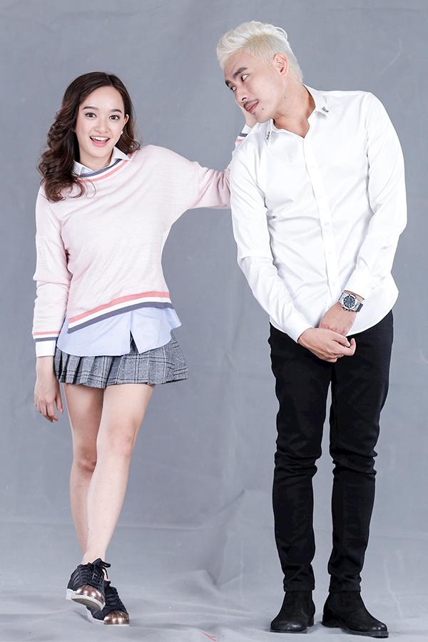 Kiều Minh Tuấn và Kaity Nguyễn đóng cặp tình nhân chênh lệch 20 tuổi trong phim Em chưa 18.