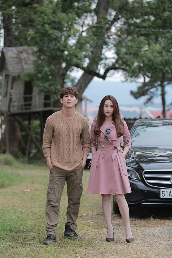 Song Luân đóng cặp đàn chị Ngân Khánh trong phim Quý cô thừa kế.