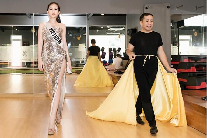 Thầy dạy catwalk: Thật xấu hổ khi Ngân Anh sao chép váy của Miss Universe 2018