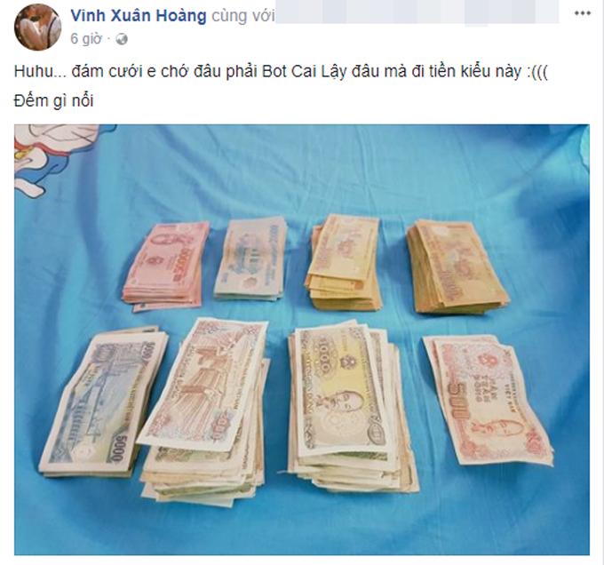 Số tiền mừng có đầy đủ mệnh giá từ 500 đồng đến 50.000 đồng.