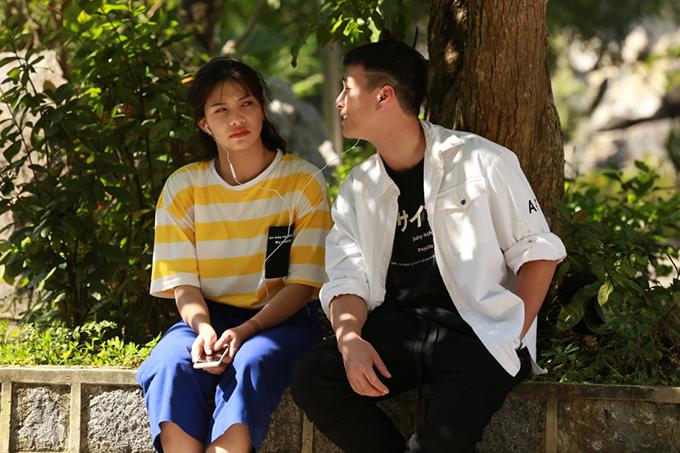 Huỳnh Anh đóng cặp với Lưu Đê Ly trong phim Chạy trốn thanh xuân.