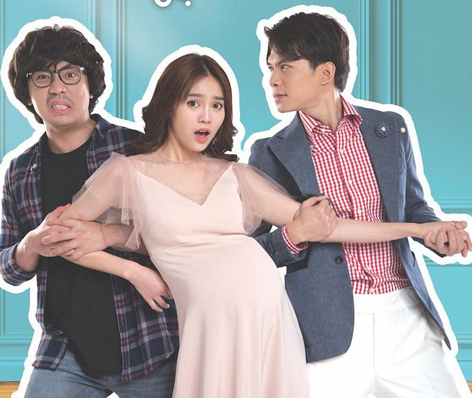 Trấn Thành, Lan Ngọc và Anh Tú (bìa phải) vướng vào mối tình tay ba oái oăm trong phim.