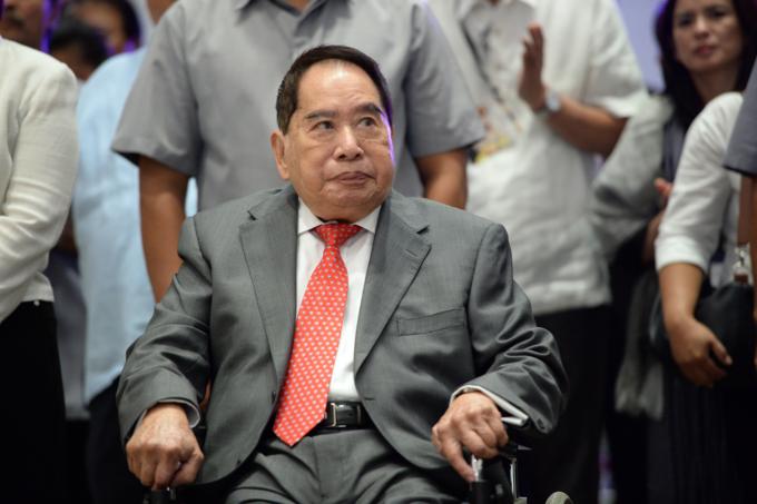 Người giàu nhất Phillipines, Henry Sy, mất hôm 19/1. Ảnh:AFP.
