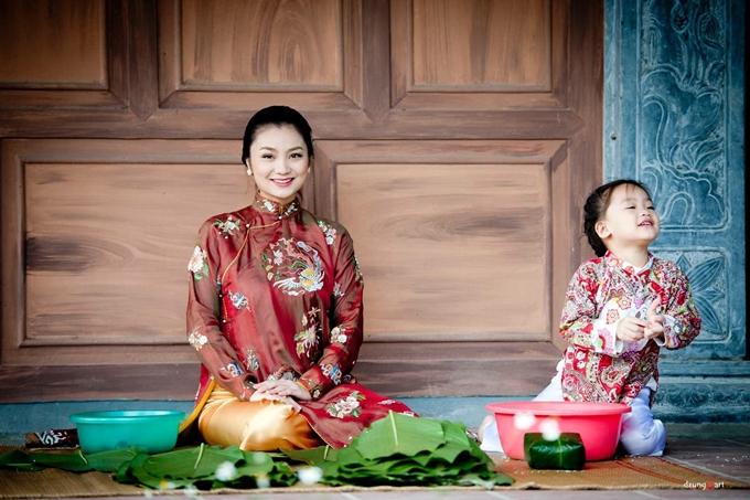Nữ diễn viên mong truyền cảm hứng bếp núc cho con gái Chuối Đậu.