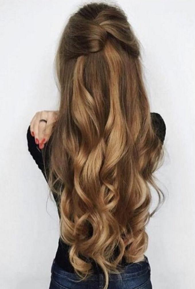 8 cách tạo kiểu đẹp cho nàng tóc dài trong ngày đầu năm mới