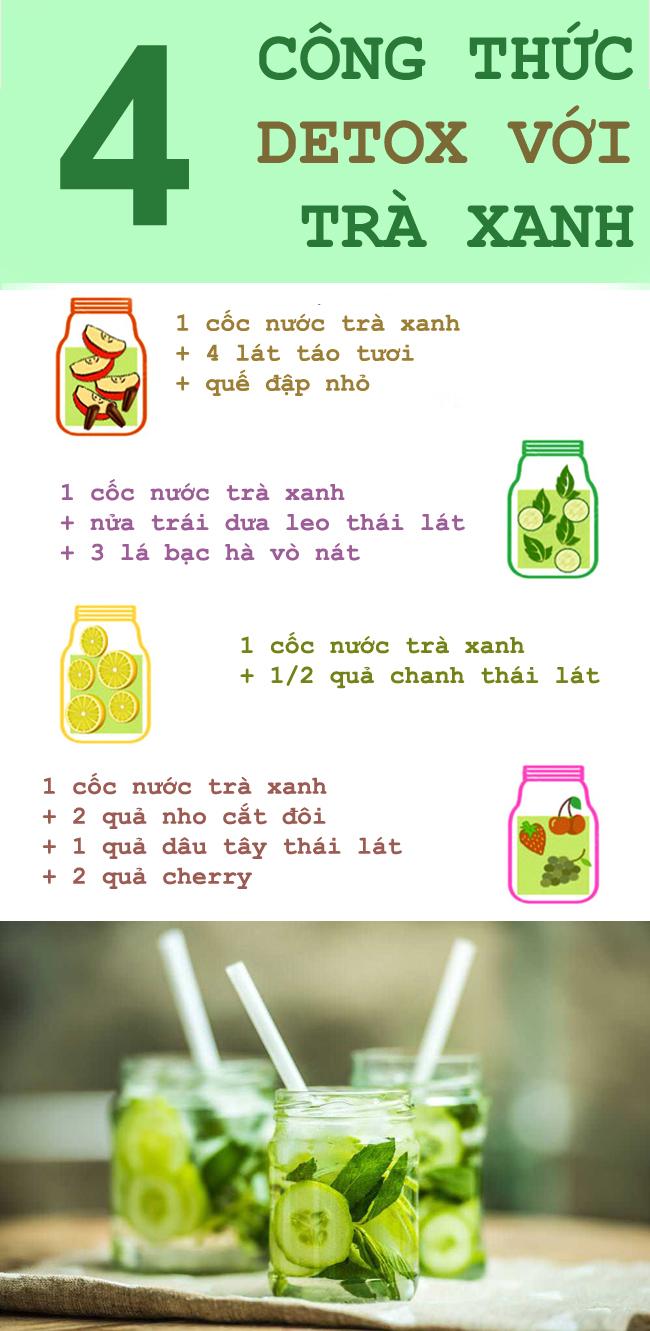 4 công thức thanh lọc cơ thể sau Tết với trà xanh
