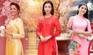 Mỹ nhân Việt đa phong cách với áo dài xuân Kỷ Hợi