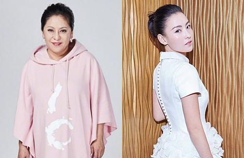 Trương Bá Chi và mẹ đỡ đầu Trần Lam.