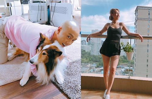 Trương Vệ Kiện, Trương Tây và chú chó cưng sống trong căn hộ 500m2.