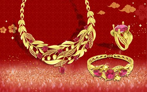 Bên cạnh đó, các bộ trang sức vàng 24K kết hợp cùng đá quý nằm trong dòng sản phẩm Quận Chúa không chỉ thu hút phái đẹp mà còn khiến cánh mày râu yêu thích. Đây vừa là món quà làm đẹp giá trị cho người phụ nữ yêu thương, vừa là vật chứng cho tình yêu trong những dịp quan trọng như đầu xuân năm mới, Valentine, 8/3&