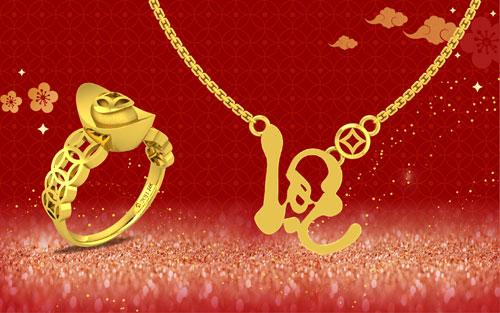 Phái mạnh có thể chọn những mẫu nhẫn hay lắc tay hình đồng tiền vàng kết nối với nhau mang ngụ ý tiền vào như nước. Những món trang sức của DOJI không đơn thuần chỉ mang giá trị thực mà còn được thiết kế tinh xảo, có tính thẩm mỹ, chất lượng vàng đạt chuẩn.