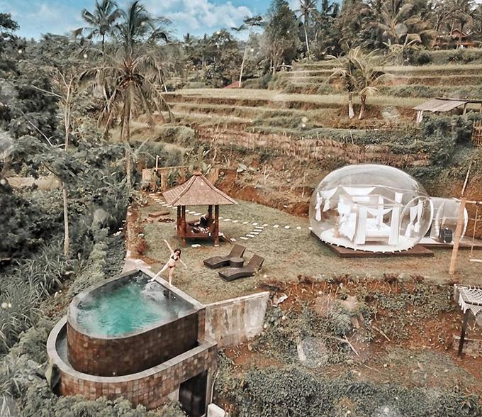 Cô gái Sài Gòn lơ lửng trong khách sạn bong bóng đẹp như cổ tích ở Bali - 6