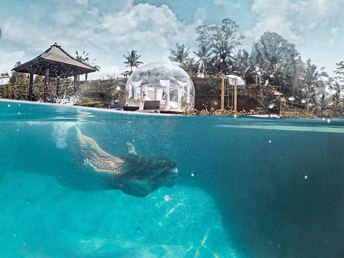Cô gái Sài Gòn lơ lửng trong khách sạn bong bóng đẹp như cổ tích ở Bali - 10