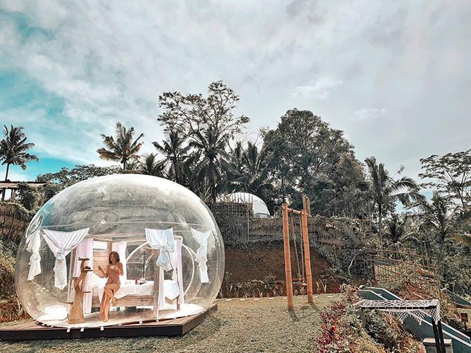 Cô gái Sài Gòn lơ lửng trong khách sạn bong bóng đẹp như cổ tích ở Bali - 8