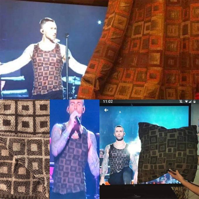 Chiếc áo ba lỗ của Adam Levine trở thành meme gây cười trên mạng xã hội.